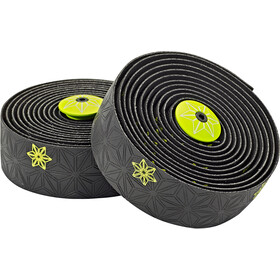 Supacaz Super Sticky Kush Galaxy Handlebar Tape, neon yellow print